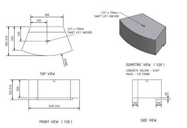 Retaining Wall Block Measurements : Keppel block dimensions specifications from barlows