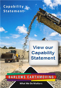 Barlows Earthmoving - Central Queensland - Capability Statement