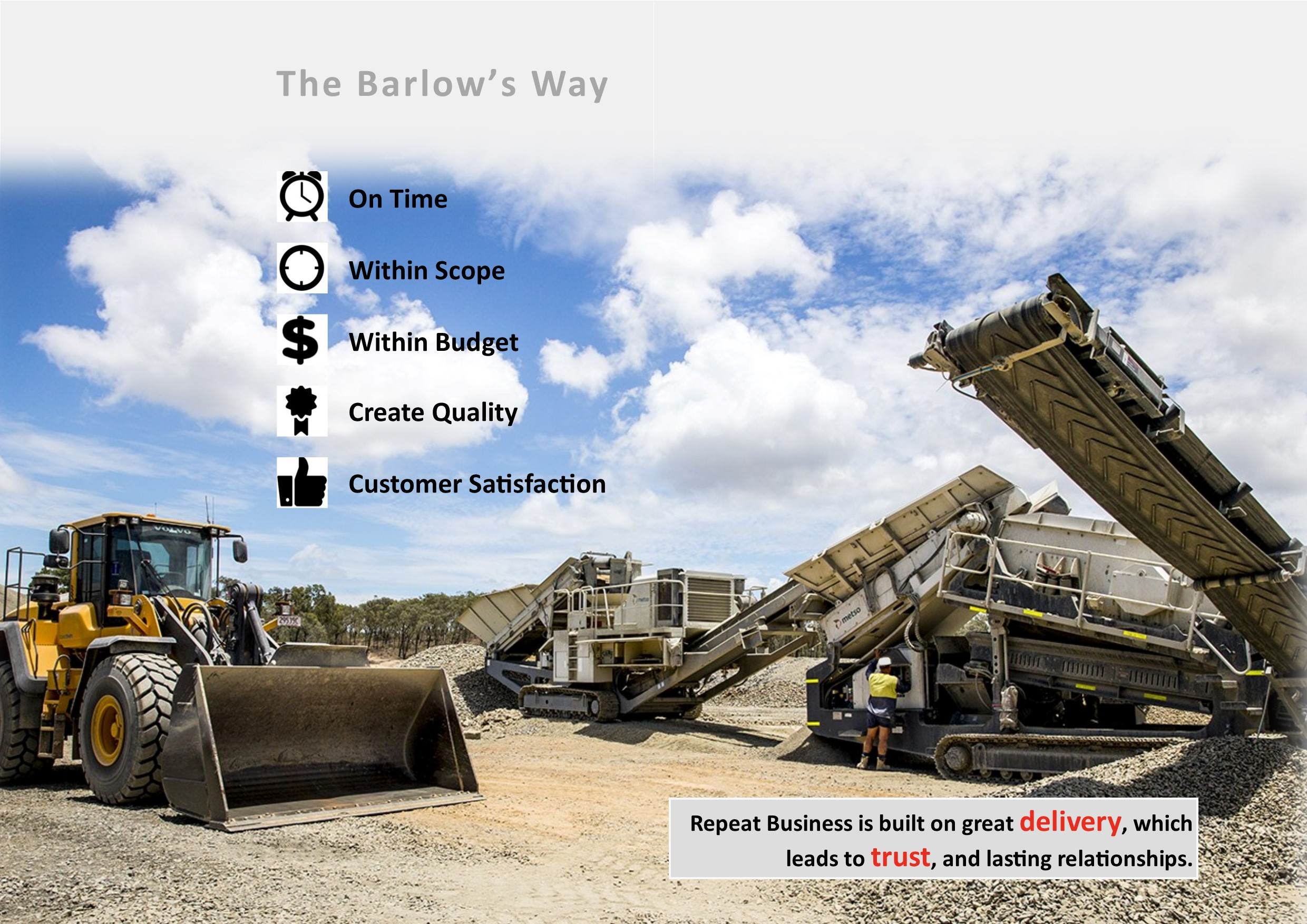 Barlow's Earthmoving Capabilities, Earthmoving Rockhampton, Civil Works Central QLD
